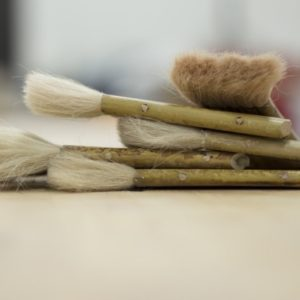 five Paint brushes