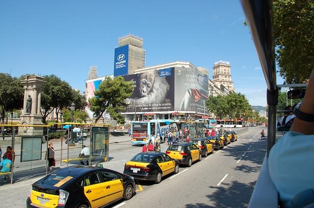 taxis at placa catalunya
