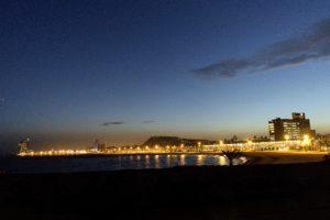 Barceloneta at night