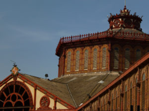 view of roof of sant antoni market
