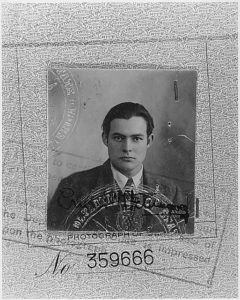 Ernest Hemingway passport photo