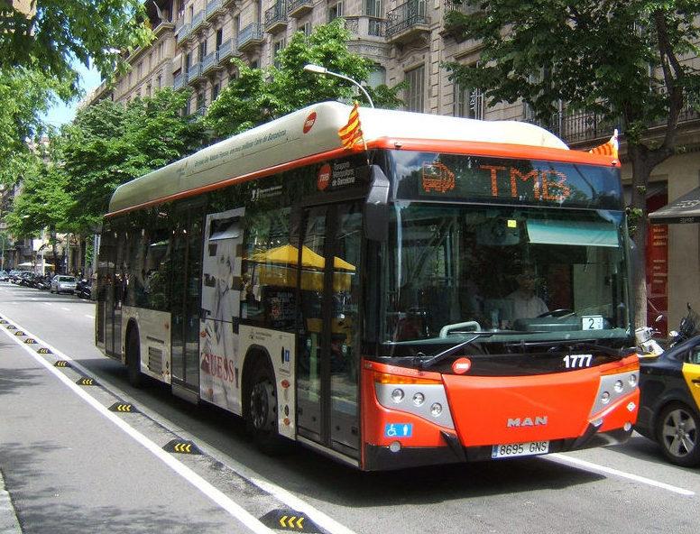 TMB bus in Barcelona