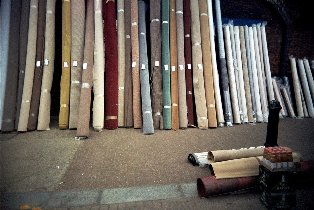 Stack of carpets