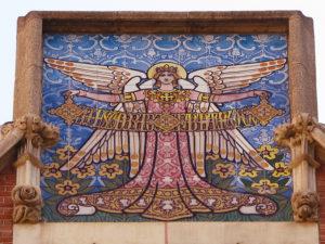 mosaic art inside casa de les punxes