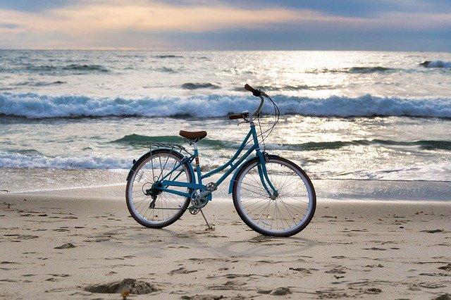 bike on beach - renting bikes