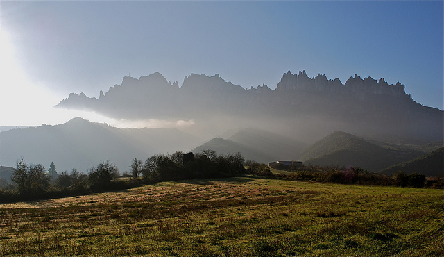 province barcelona montserrat mountain