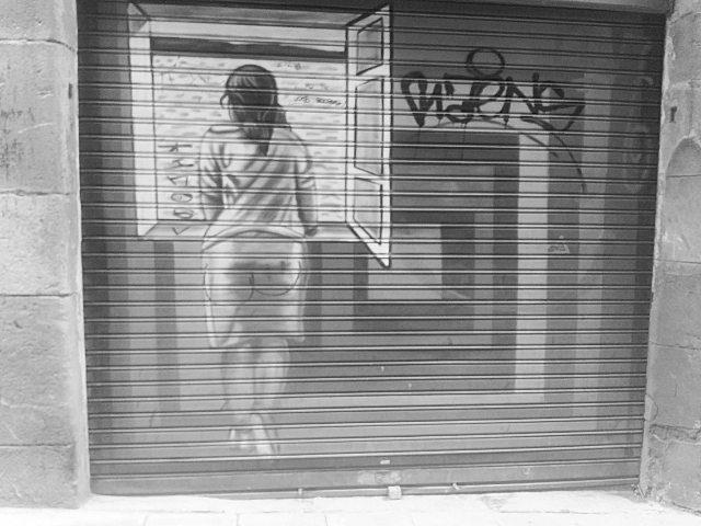 What is she looking at? streetart streetartist barcelona elraval streetshellip