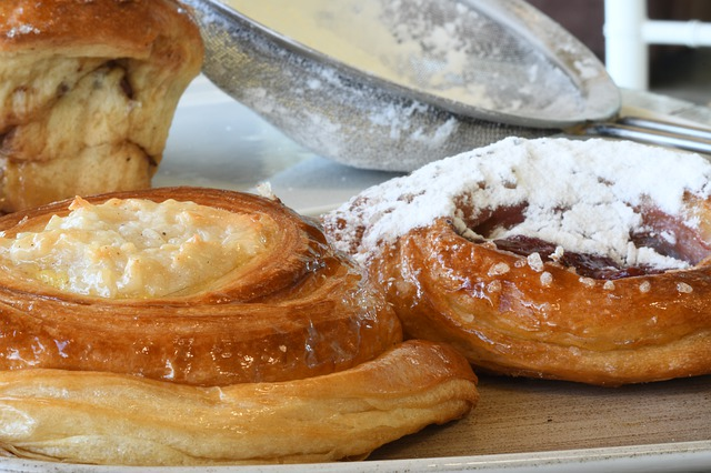 pastry with sugar powder