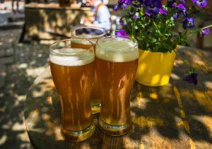 Three pints of beers