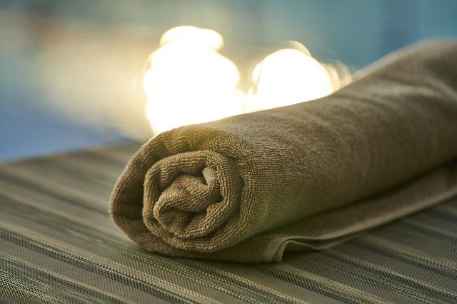 pool and towel