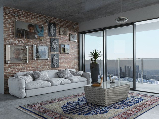 living room with balcony, rent in barcelona