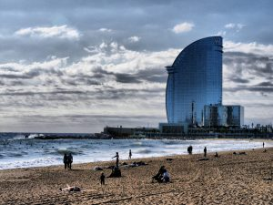 W hotel and beach in barcelona