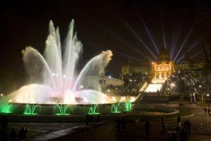 magic fountain at night