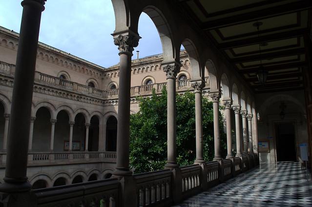 hallway around garden