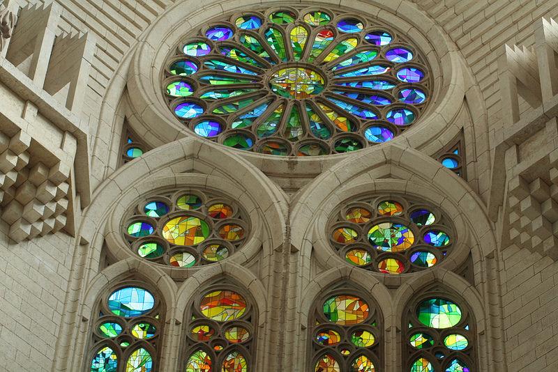 windows in sagrada familia