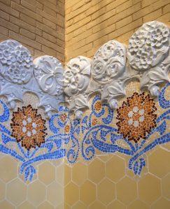 mosaic inside sant pau recinte modernista barcelona