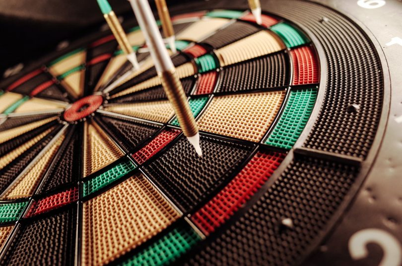 dart board close-up