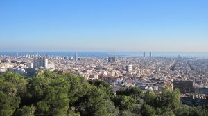 view over Barcelona city