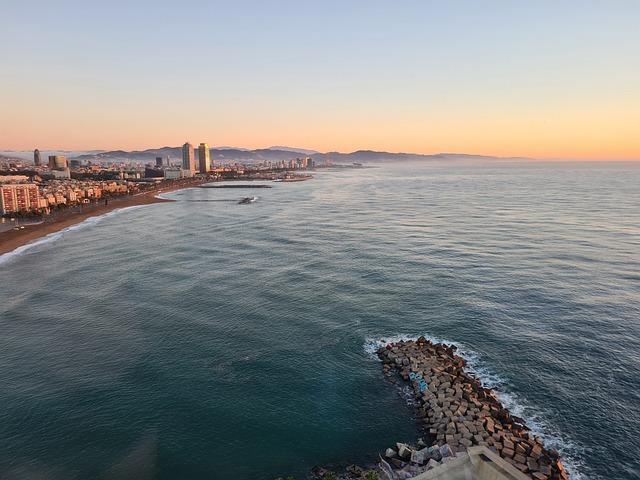 sunrise barcelona beach