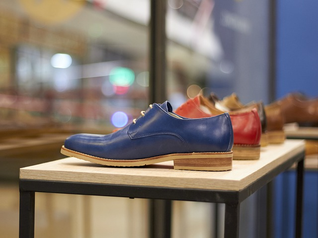show store with modern shoes