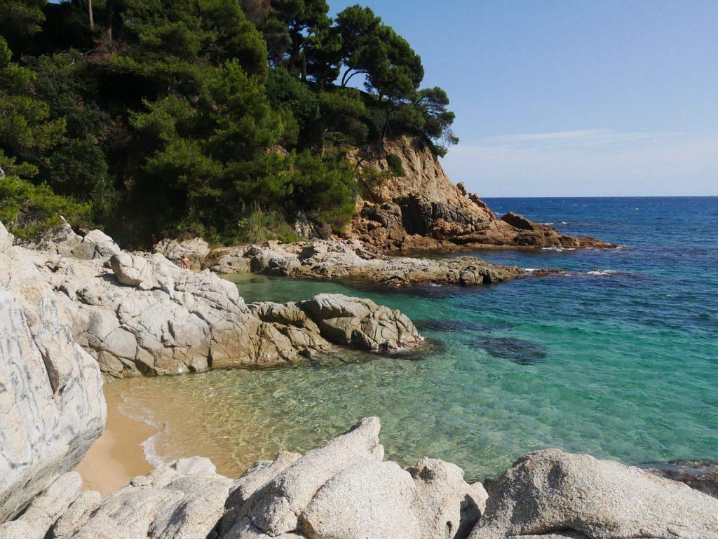 beach on the catalan coast