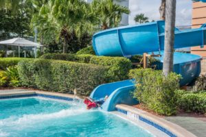 water slide in water park