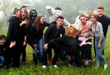 group young actors halloween