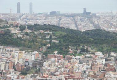 view of barcelona towards sea