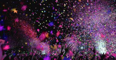 confetti in a club
