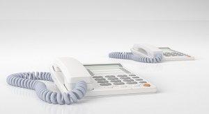 white telephones