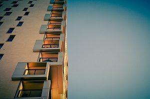 apartment block with balconies