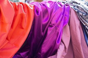 red, pink and purple fabrics