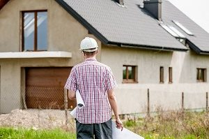 builder walks to new house