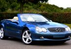 blue mercedes convertible