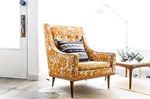 yellow armchair in light room