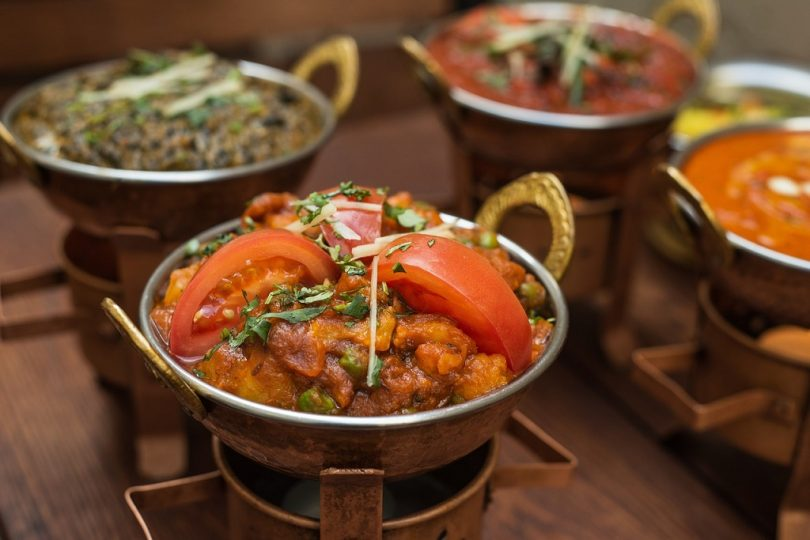 indian dishes on table
