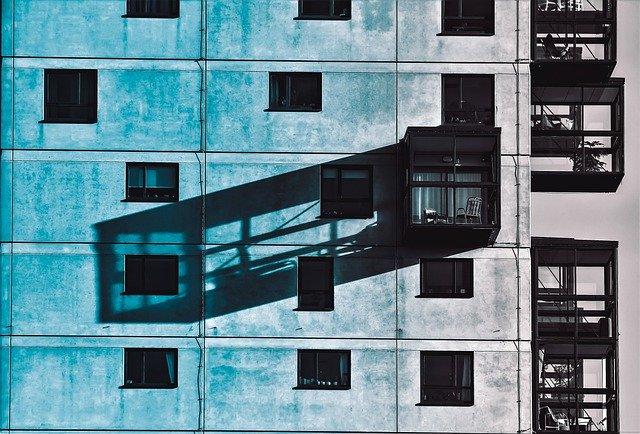 balconies on modern building