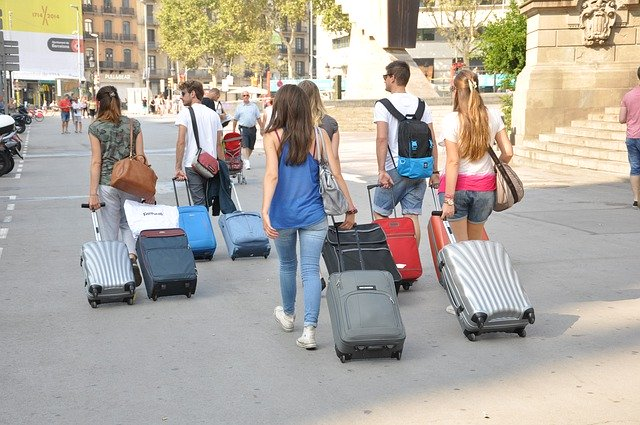 people with luggage