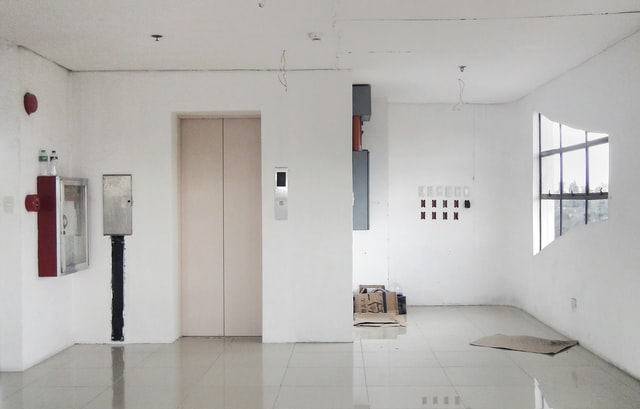 elevator doors in hall way