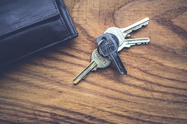keys on wooden surface