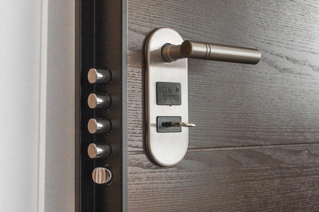 Door with locks