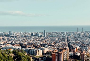 view over city of Barcelona