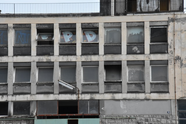 occupied builiding with many windows