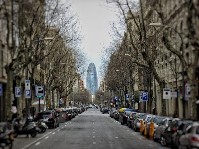 torre glories at end of street