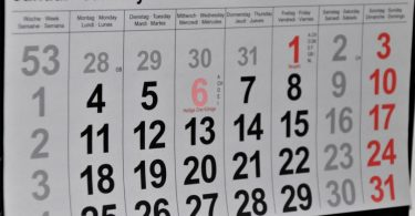 calendar with month of january