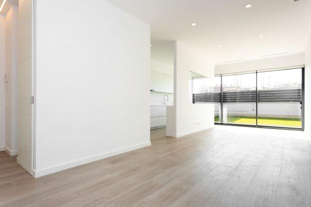 empty apartment with patio