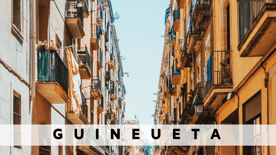 Rent an apartment in  Guineueta